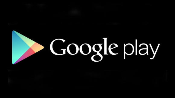 Google Play Store Logo with a black background