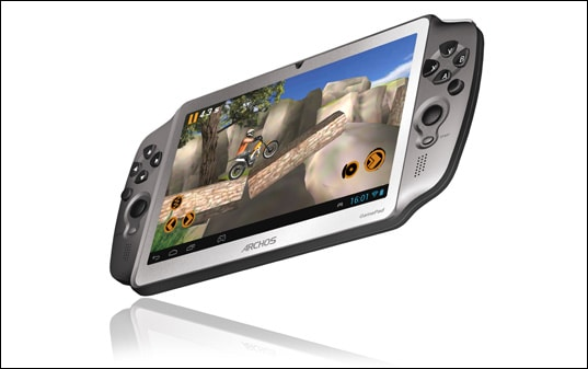 Archos Gamepad Front and Side View