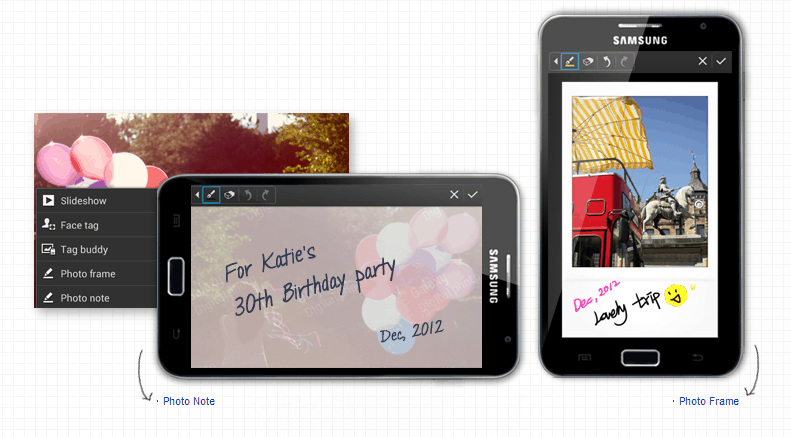 Samsung Galaxy Note Photo Frame Feature