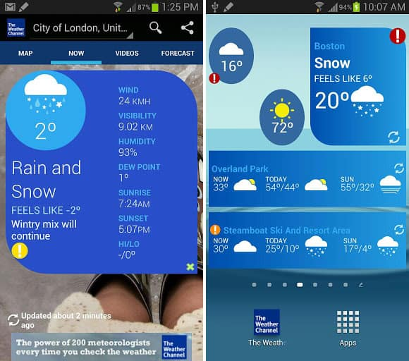 Introducing the new and improved weather channel app