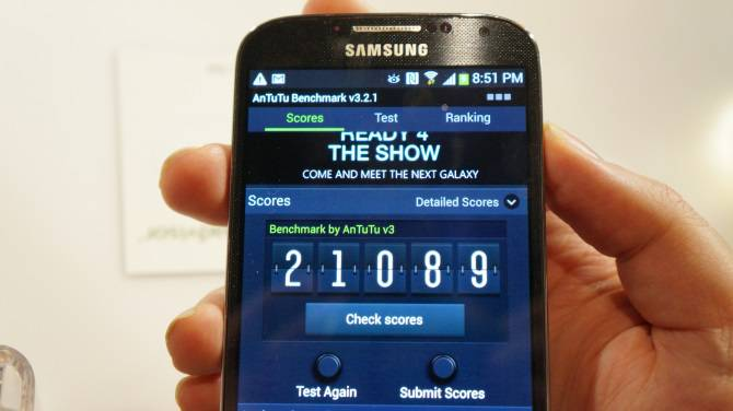 Samsung Galaxy S4 AnTuTu Score