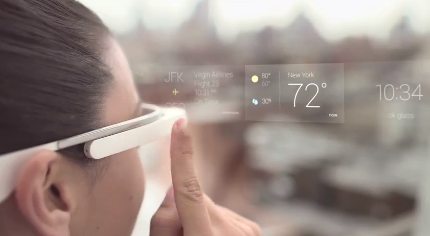 Google Glass in use from How To video