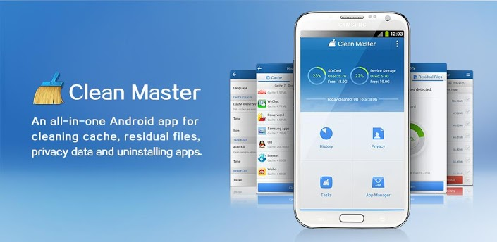 clean master cache cleaner application