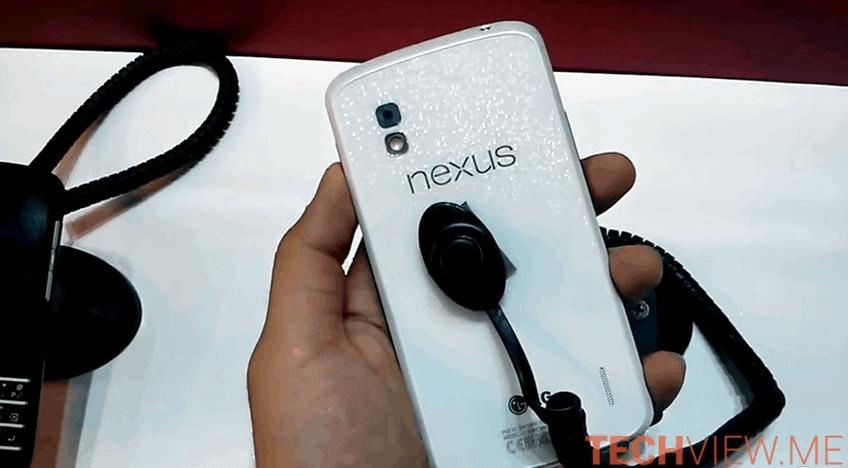 White Nexus 4 Video Image