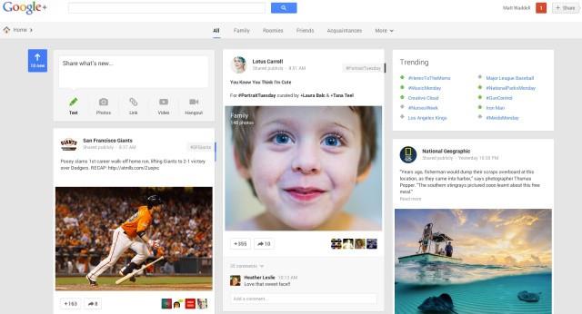 google plus update maggio 2013