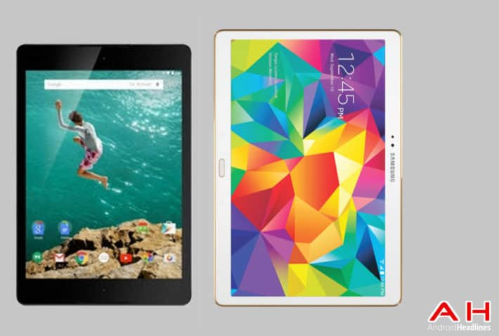 Tablet Comparisons: Nexus 9 vs Samsung Galaxy Tab S 10.5