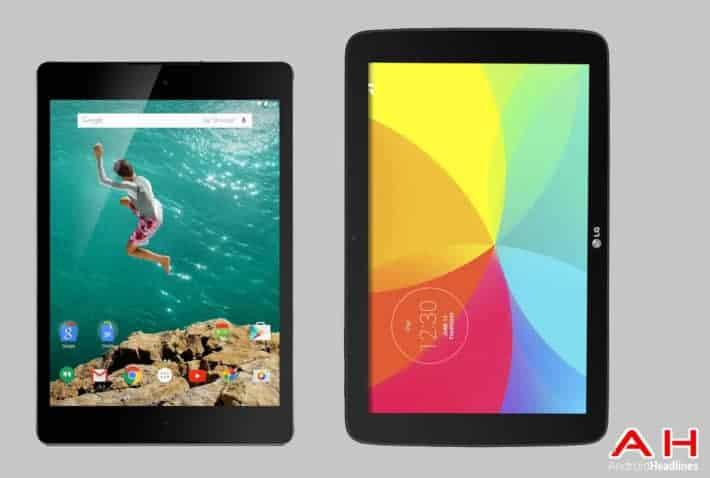 Tablet Comparisons: Google Nexus 9 vs LG G Pad 10.1