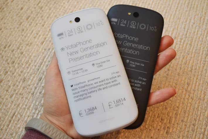 YotaPhone 2 U.S. Availability Through Indiegogo Starting Spring And White Version Coming Summer