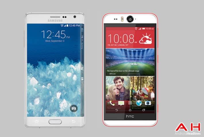 Phone Comparisons: Samsung Galaxy Note Edge vs HTC Desire Eye