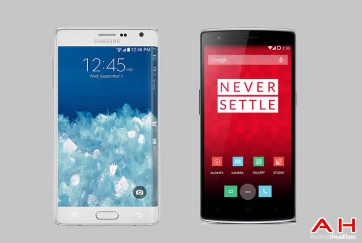 Phone Comparisons: Samsung Galaxy Note Edge vs OnePlus One