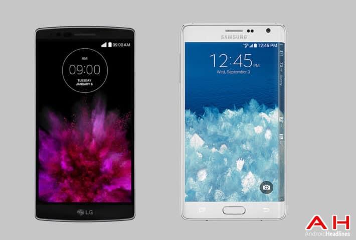 Phone Comparisons: LG G Flex 2 vs Samsung Galaxy Note Edge