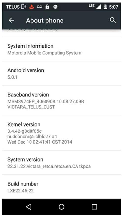 Moto X 2014 Lollipop Update