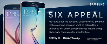 Galaxy S6 and S6 Edge leaked Sprint promotion material