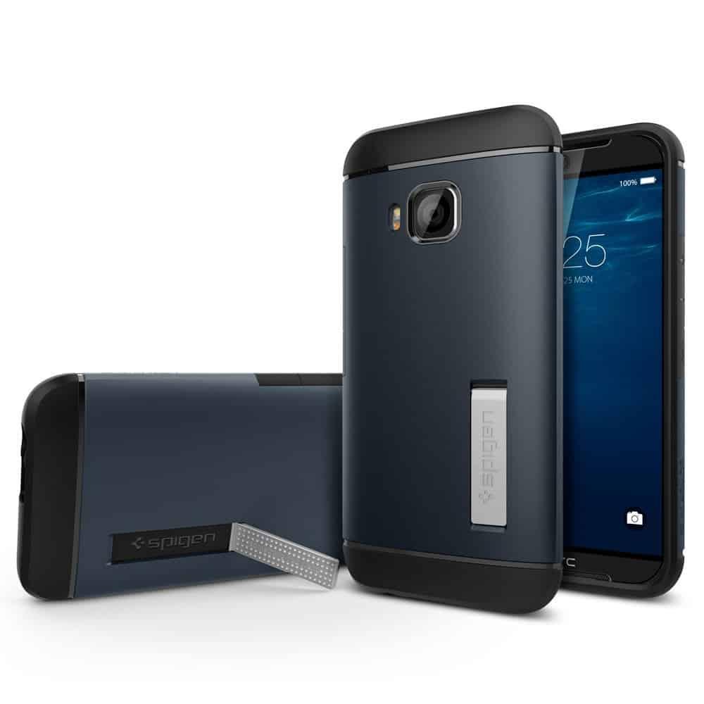 HTC One (M9) pre-launch Amazon listing Spiegen case