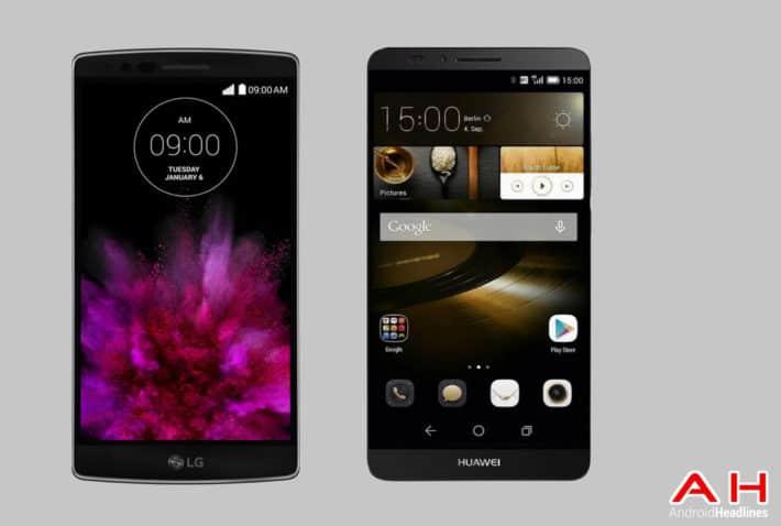 Phone Comparisons: LG G Flex 2 vs Huawei Ascend Mate 7