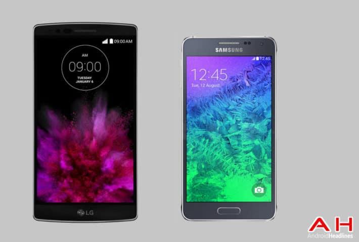 Phone Comparisons: LG G Flex 2 vs Samsung Galaxy Alpha