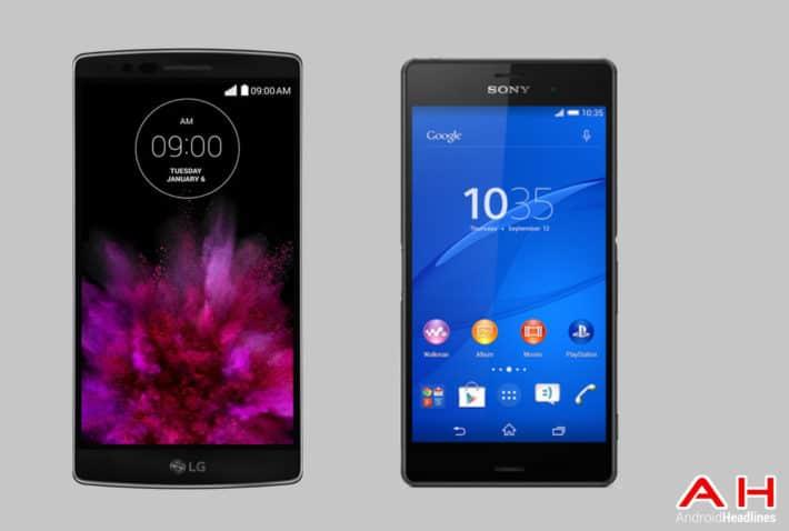 Phone Comparisons: LG G Flex 2 vs Sony Xperia Z3