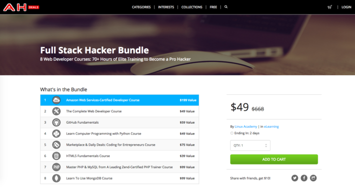 8 Web Developer Course On Sale for just $49