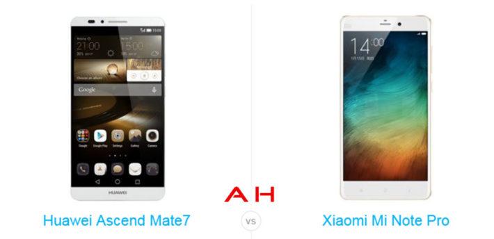 Phone Comparisons: Huawei Ascend Mate 7 vs Xiaomi Mi Note Pro