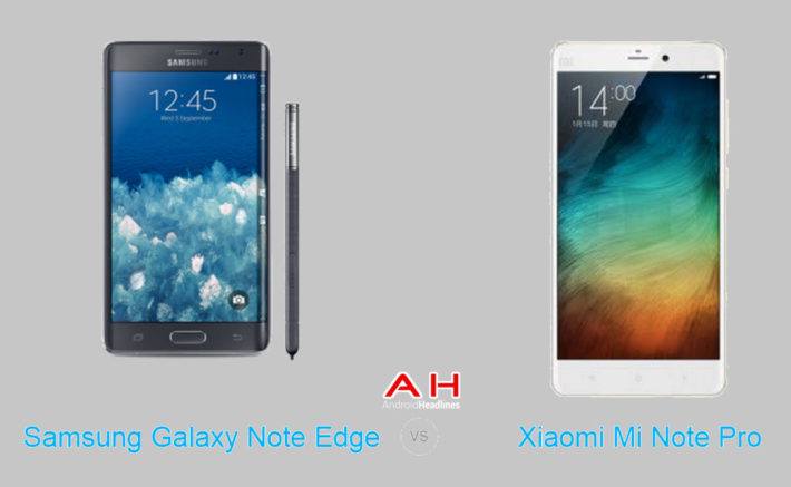 Phone Comparisons: Xiaomi Mi Note Pro vs Samsung Galaxy Note Edge