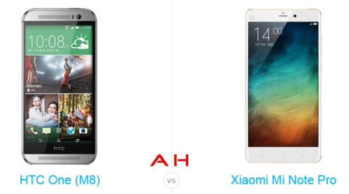 Phone Comparisons: Xiaomi Mi Note Pro vs HTC One M8