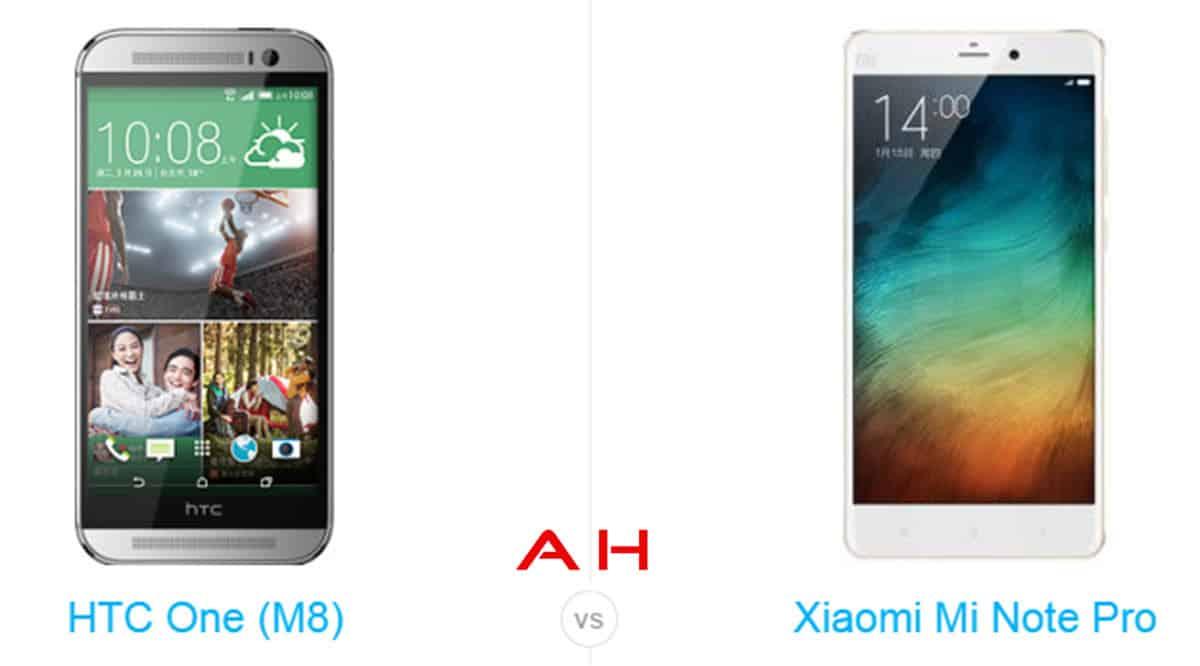 Xiaomi Mi Note Pro vs HTC One M8 cam AH