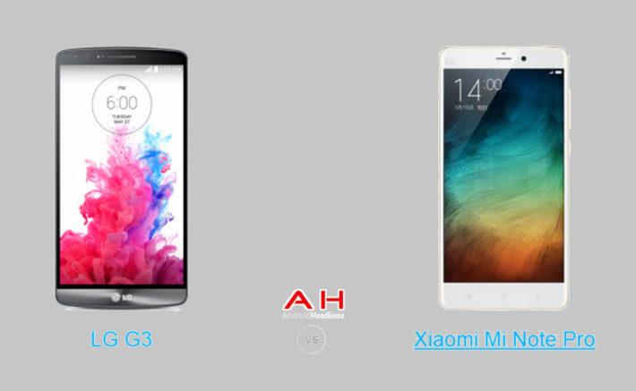 Phone Comparisons: LG G3 vs Xiaomi Mi Note Pro