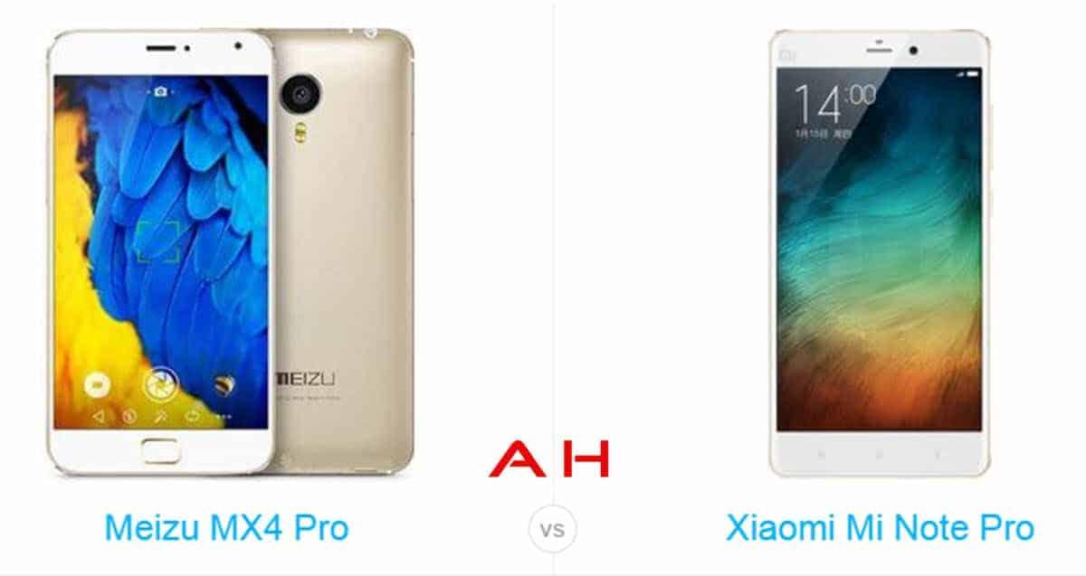 Xiaomi Mi Note Pro vs Meizu MX4 Pro cam AH