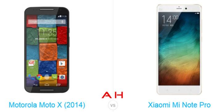 Phone Comparisons: Xiaomi Mi Note Pro vs Motorola Moto X