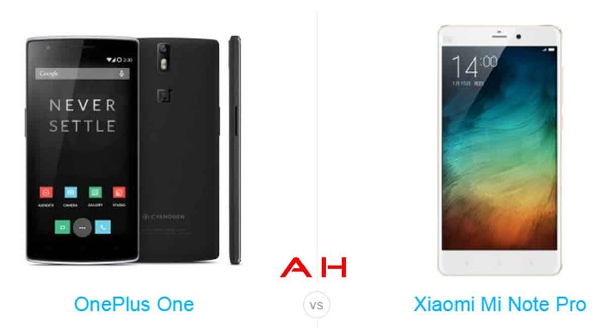 Xiaomi Mi Note Pro vs OnePlus One cam AH