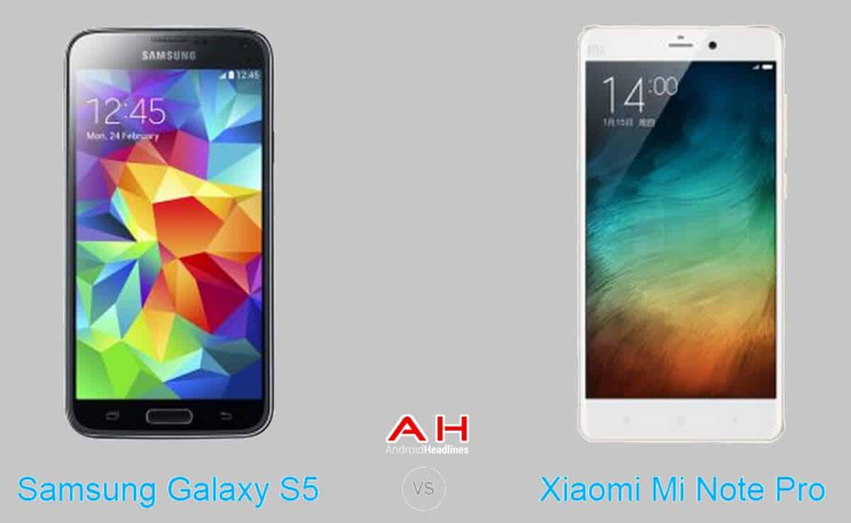 Xiaomi Mi Note Pro vs Samsung Galaxy S5 cam AH