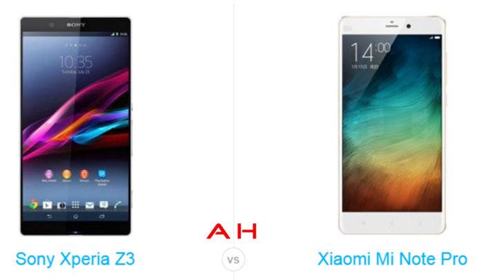 Phone Comparisons: Xiaomi Mi Note Pro vs Sony Xperia Z3