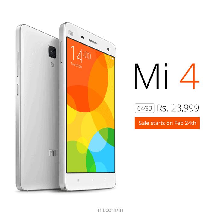 Xiaomi Mi4 64GB India