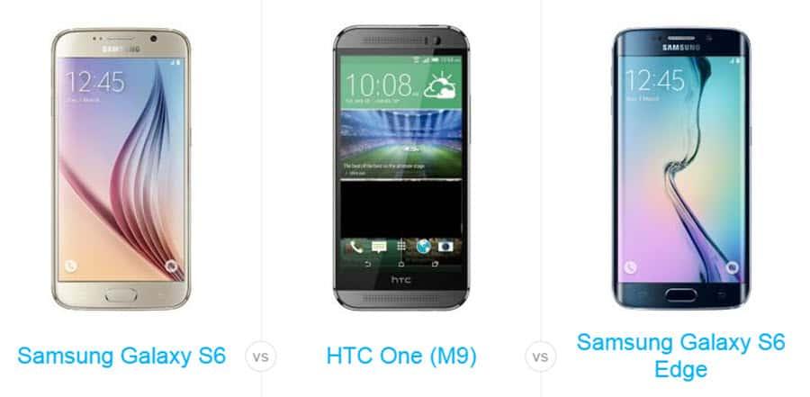 Galaxy S6 S6 Edge HTC One M9