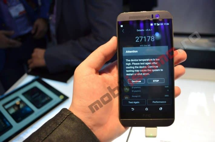 Overheat Warning Pops Up On HTC One (M9) While Running AnTuTu Benchmark App At MWC