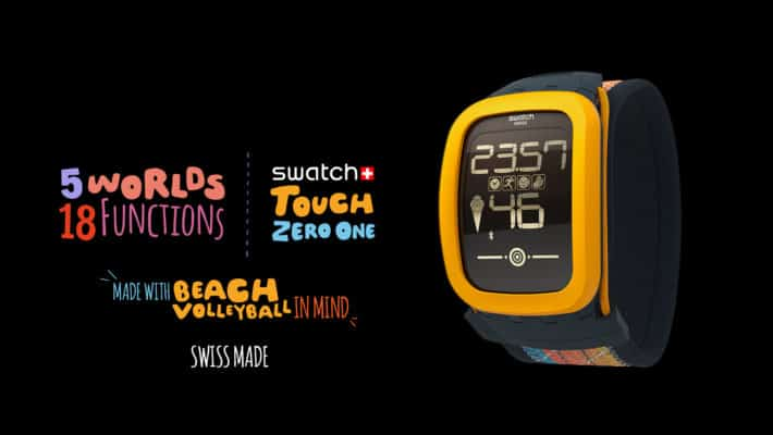 Swatch Introduces A Wearable With Beach Volleyball In Mind Called The Touch Zero One